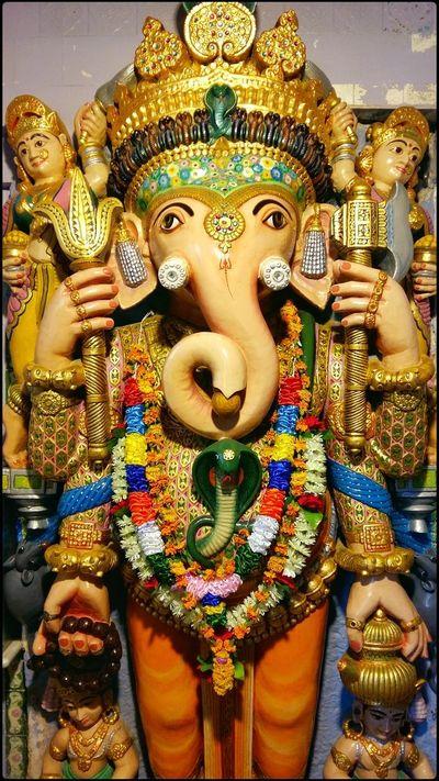 Religion Statue Gold Colored No People Close-up Cultures Indoors  Day LordGanesha Ganesha Ganesha Lord Of Success Ganesha Portrait Ganesha Idols Ganesha Statue