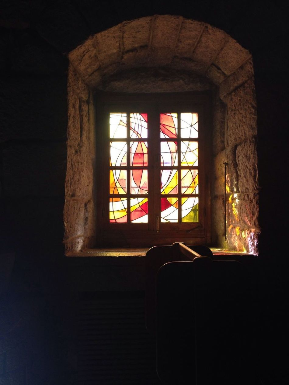 Stained Glass Church Window Light Spirituality No People Religion Place Of Worship St Charbel Old Buildings