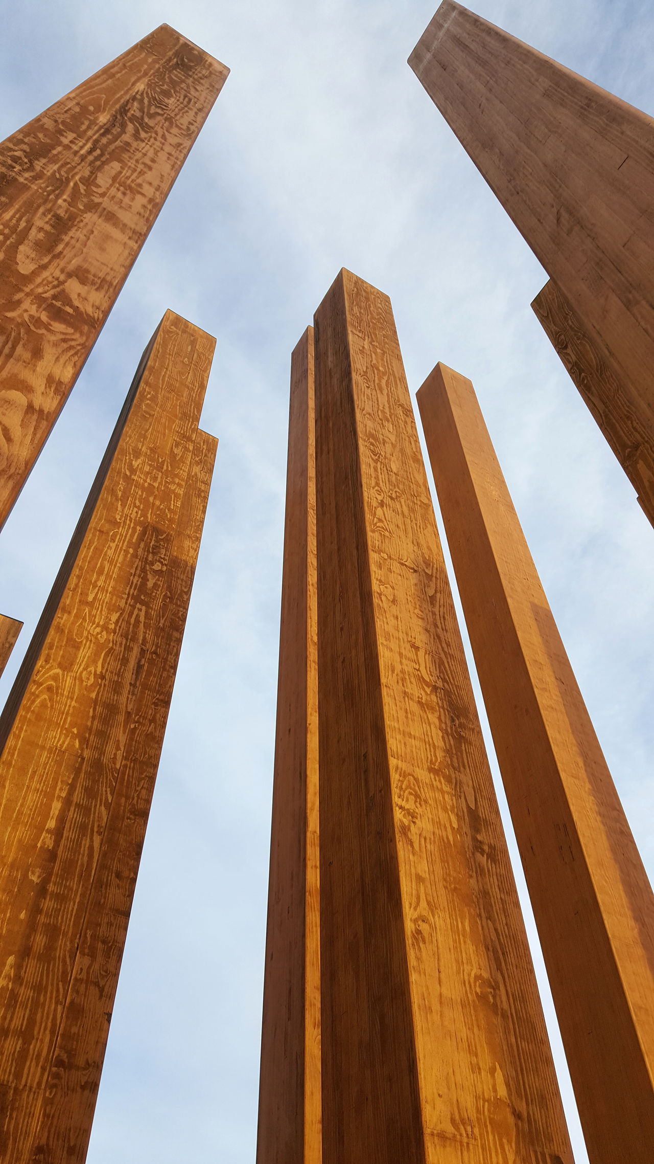 Art Day Dublin City University Low Angle View Outdoors Sculpture Symbol Wooden Post