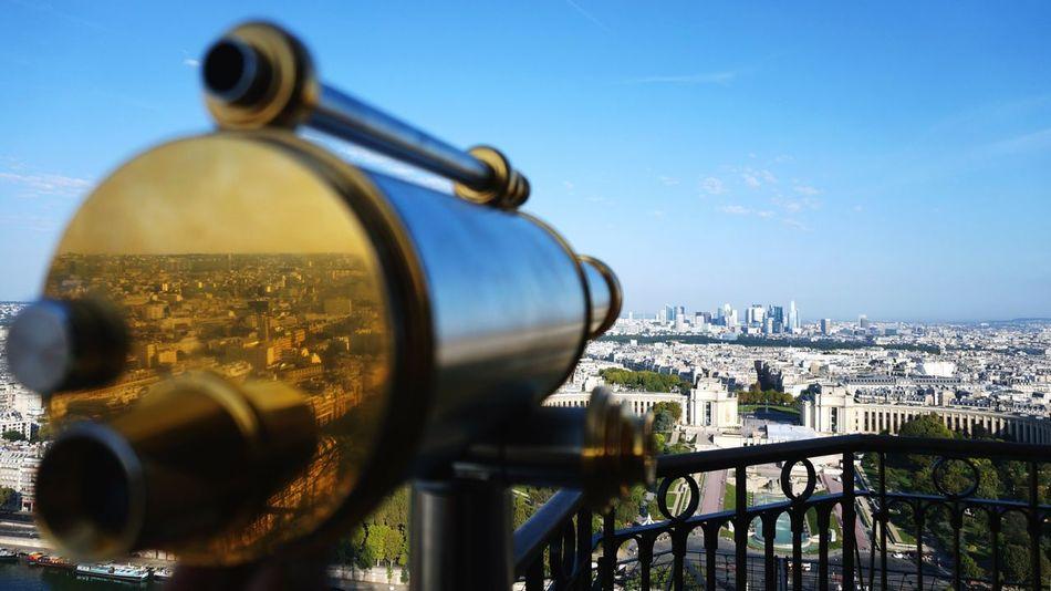 Beautiful stock photos of eiffelturm, Architecture, Binoculars, Blue, Building Exterior