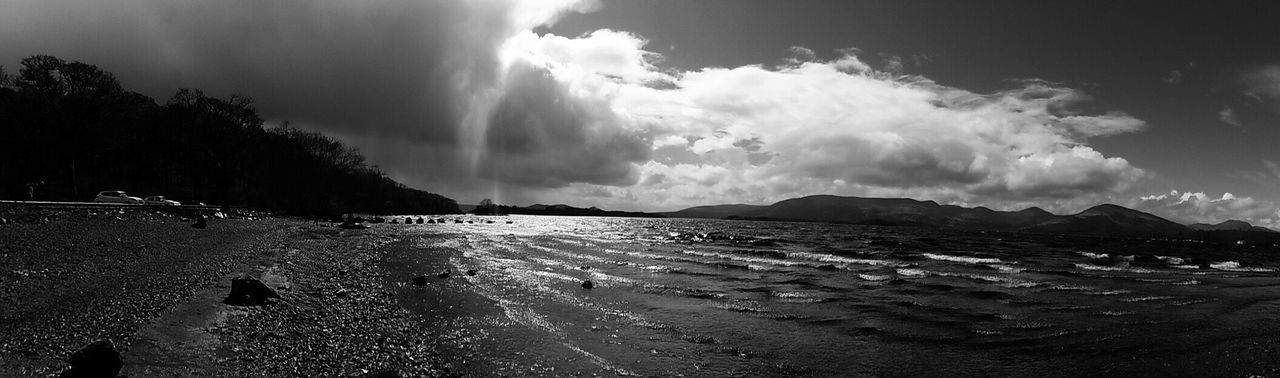 Sky Cloud - Sky Water Beauty In Nature Scenics Beach Nature Outdoors Day Tranquil Scene Sea Tranquility No People Tree Mountain Power In Nature Natural Phenomenon Scotland LochLomond Travel Photography Horizon Over Water Landscape Non-urban Scene Beauty In Nature Panorama