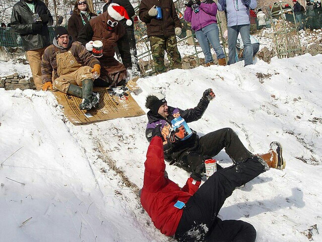 First Snow United States Snow White Enjoying The Snow Snowpocalypse
