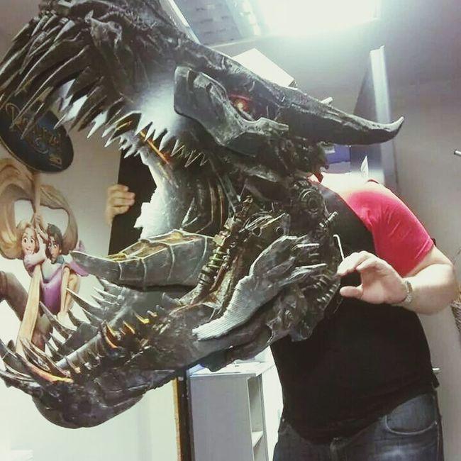 Having fun at work. Transformers4 Cinema Dinobot