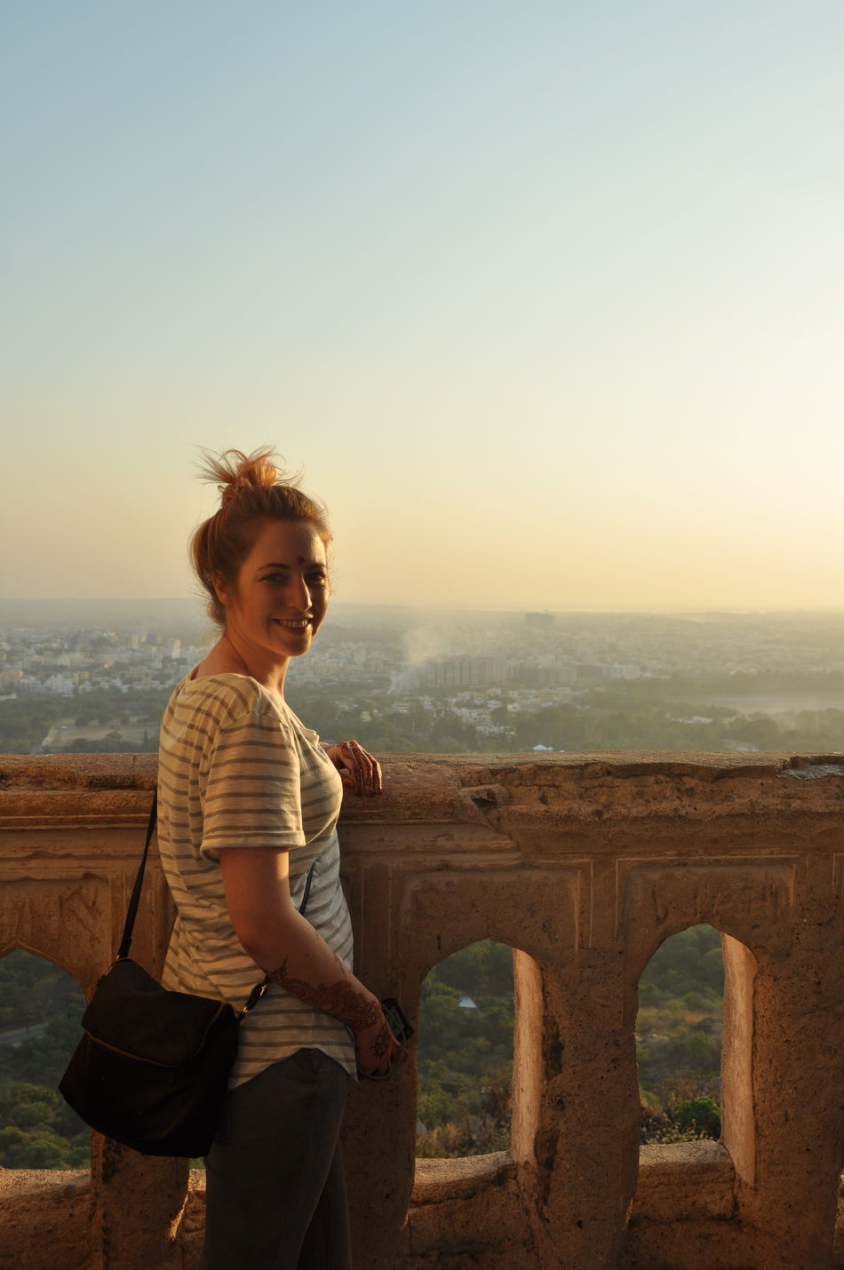 Adventure Beautiful Beautiful Woman Bindi Cheerful Clear Sky Enjoying Life Girl Golconda_fort Hyderabad I India Indian Culture  Leisure Activity One Woman Only Outdoors Portrait Sky Smiling Sunset Tourism Tourist Travel Travel Destinations Vacations
