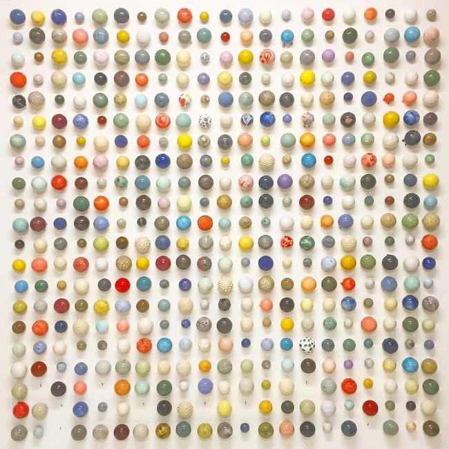 Balls Pearls Studio Arhoj Arhoj Copenhagen Denmark Copenhagen, Denmark Installation Wallart Decor Glaze Ceramics Colors