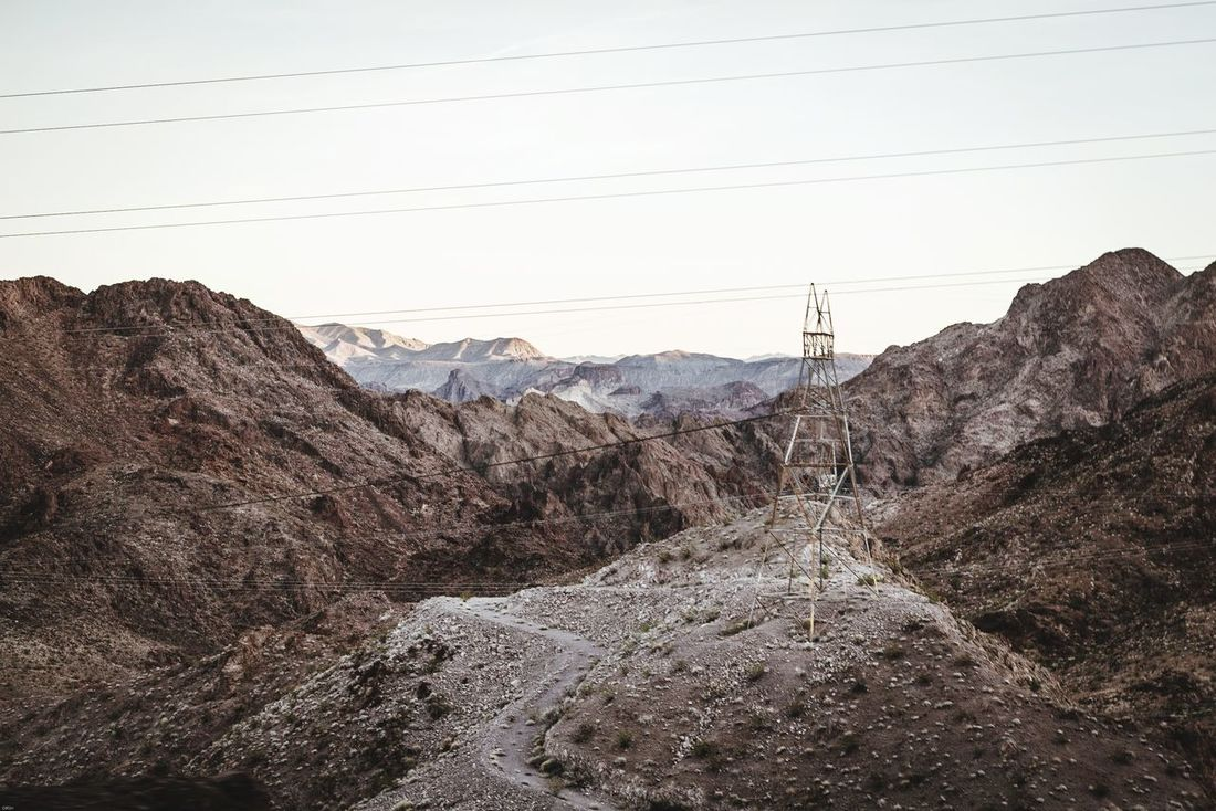Hoover dam mountains ❤👌 Mountain Cable Rock - Object Electricity  Landscape Day Electricity Pylon Technology Mountain Range No People Sky Nature Outdoors Tree Beauty In Nature Desert Sand Clear Sky Photography Instagood Historical Unreal Hoover Dam Hoover Roadtrip