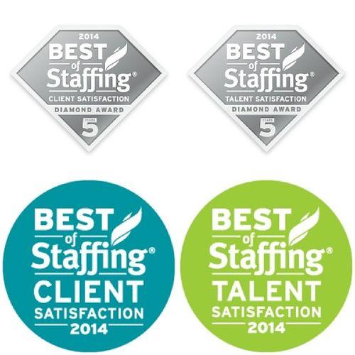 Pleased to announce that PrideStaff wins Inavero 's 2014 BestOfStaffing® Client Diamond Award