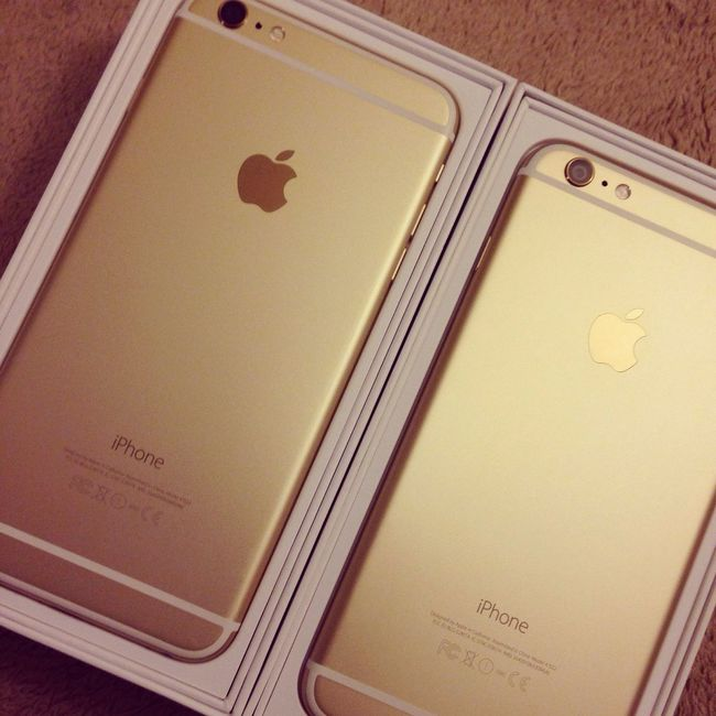 Iphone 6 Plus Gold 128G so cool~