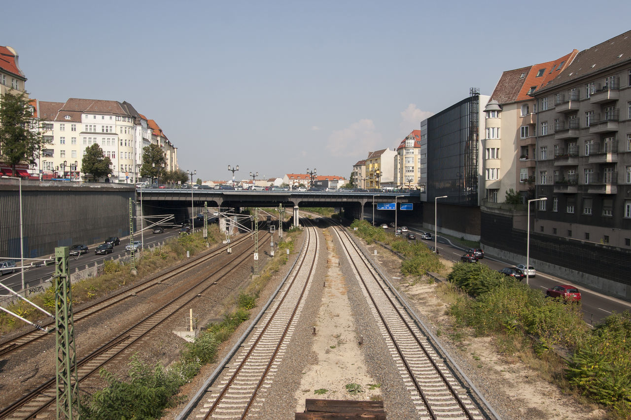 Architecture Berlin Building Exterior City Day Europe Germany No People Outdoors Public Transport Public Transportation Rail Transportation Railroad Track S-bahn Sky Transportation