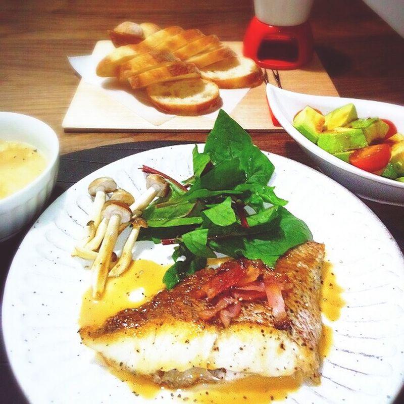 晩ごはん☆彡 Dinner Table Foodporn Food Porn Food Fish Sautee My House CheeseFondue Abocado