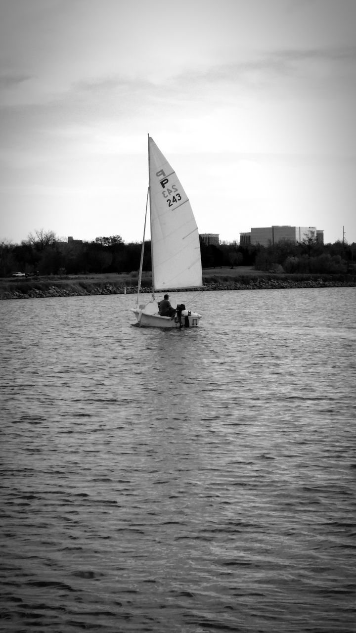water, sky, waterfront, sea, outdoors, sailing, sailboat, no people, nature, day