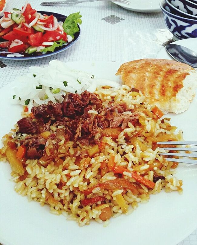 Food Photography National Food Plov Uzbekistan Summer Tashkent My Lunch I Love My City