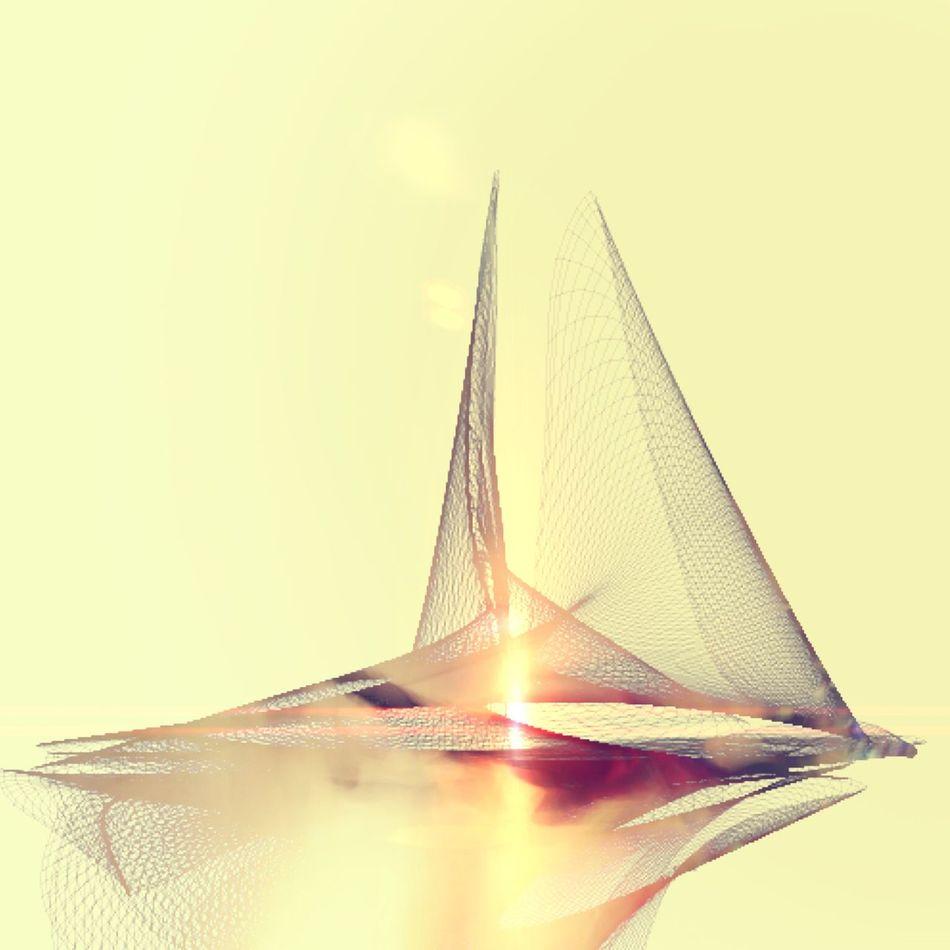 SAIL I Conceptual Light Sailing Abstractart