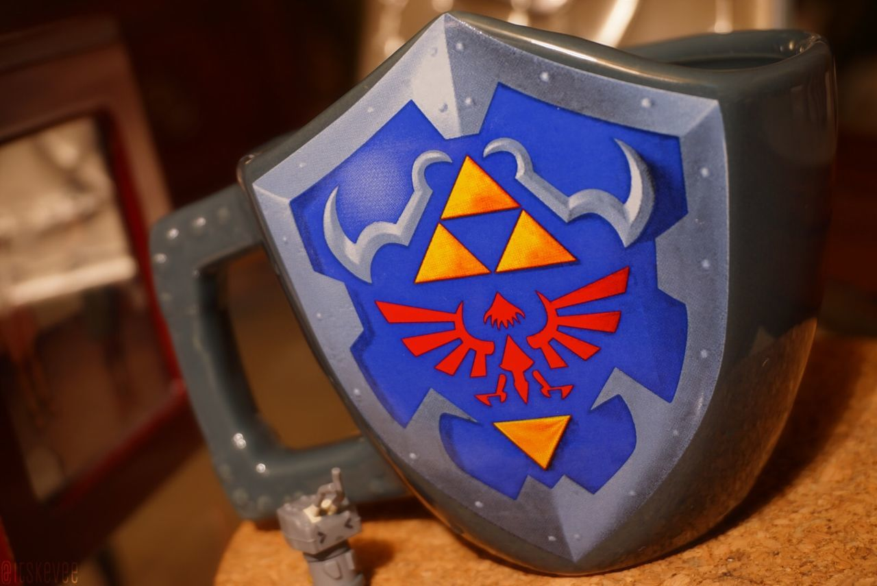 Blue Close-up Coffee Focus On Foreground Kancolle Kantai Collection Kantaicollection Mug Multi Colored Nintendo No People Rensouhou Shield Sign Symbol The Legend Of Zelda Zelda