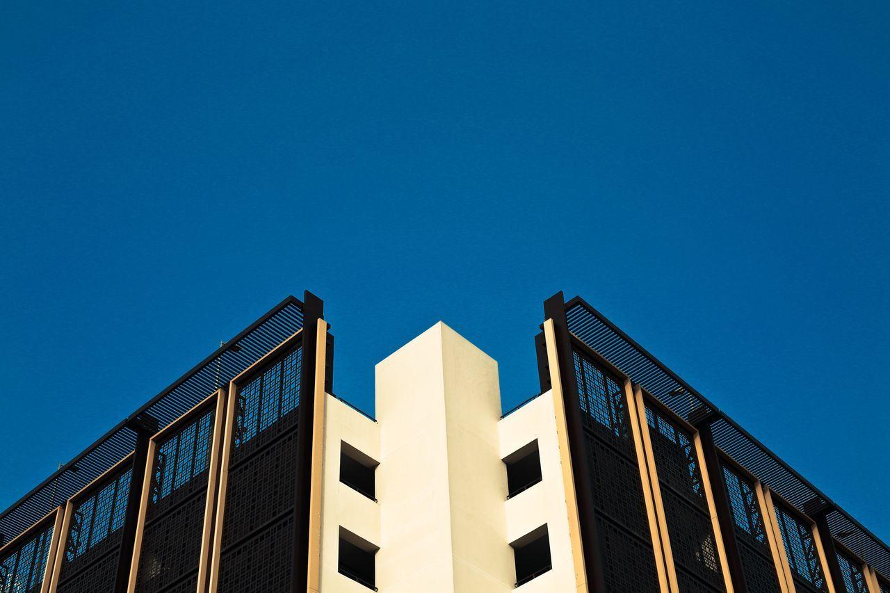 Building Exterior Blue No People