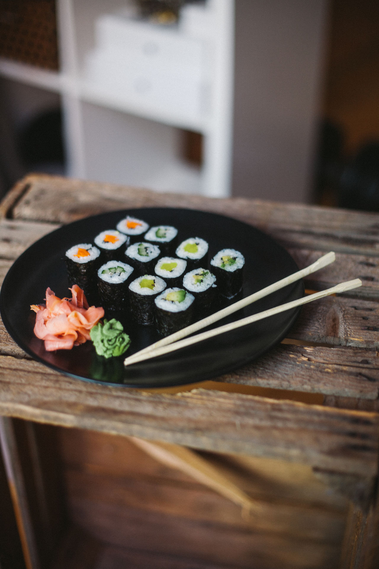 Japanese Food Lunch Sushi Sushi Time Sushilover Vegan Vegan Food Vegetarian Food Wooden Table Fresh On Market 2017