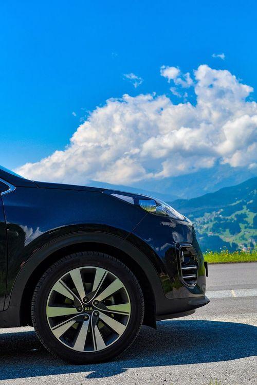 Transportation Car Land Vehicle Blue Sky Stationary Road Cloud - Sky No People Day Tire Outdoors Kia Kia Sportage