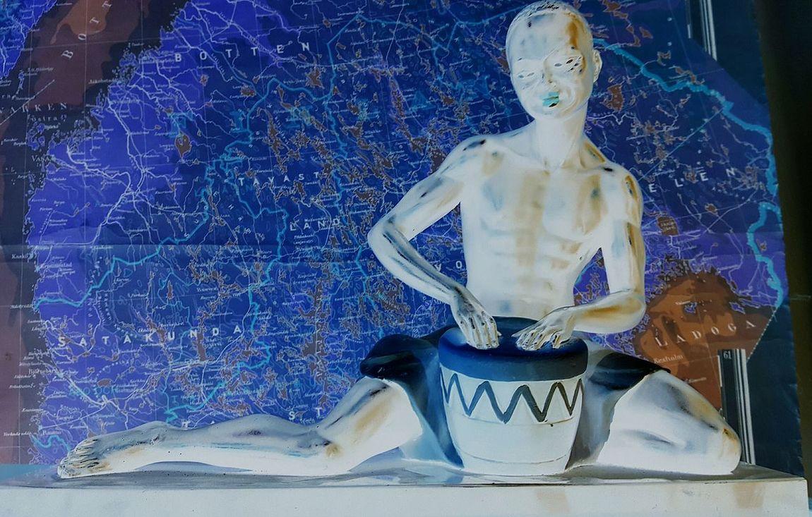 Drum Solo Human Representation Finland Map Eyeem Art Communication Miles Away World Music Map Diversity