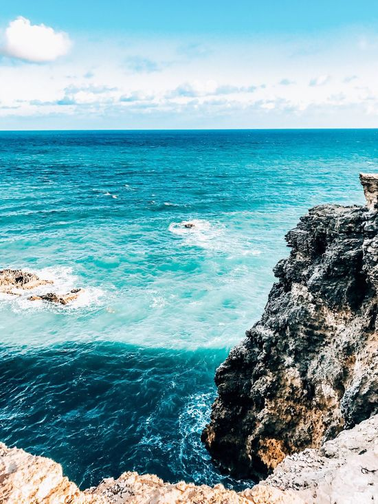Puerto Rico Beauty In Nature Nature Sea Beauty In Nature Scenics Horizon Over Water Nature Water Sky Tranquil Scene Rock - Object Tranquility Cloud - Sky Outdoors Idyllic Blue Day No People Sunlight