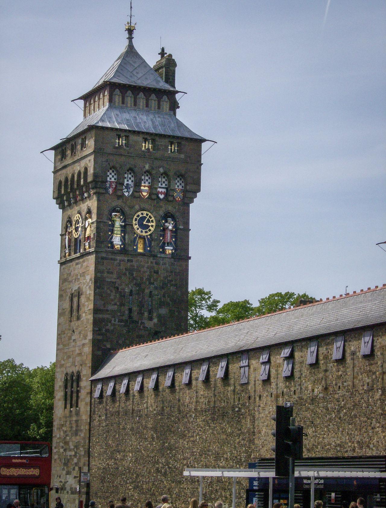 Architecture Building Exterior Built Structure Caerdydd Cardiff Castello Castle City Clock Clock Tower Day Galles Gran Bretagna Great Britain Großbritannien No People Outdoors Schloss Schloss Sky Tower Tree Wales