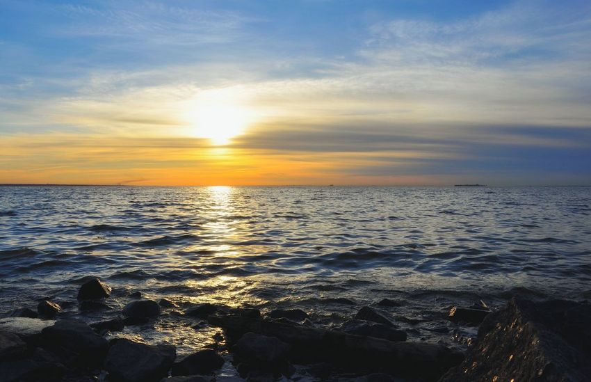 Sunset Nature Пейзажи пейзаж Природа закат🌇 Environment Sea And Sky Sea Saintpetersburg