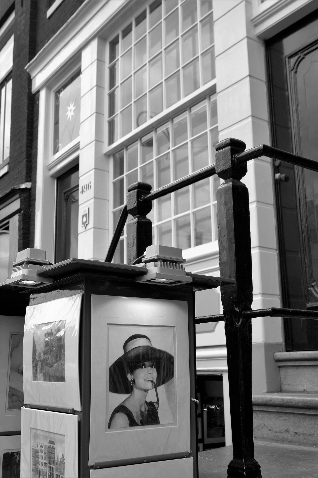 Architecture Audrey Hepburn Black & White Black And White Blackandwhite Building Exterior Built Structure Day Holly Hollywood Monochrome Monochrome Photography Outdoors Railing Steps Street Photography Streetphotography Window Amsterdam City Travel Destinations