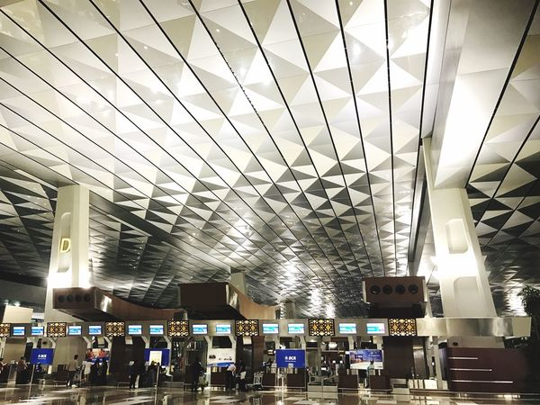 T3 Soekarno Hatta Ceiling Built Structure Architecture Airport The Architect - 2017 EyeEm Awards