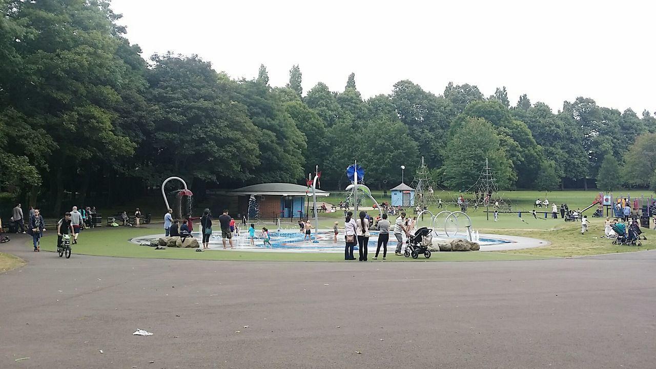 Water Park Splash Pool Walsall Arboretum Walsall Park Fun Playing