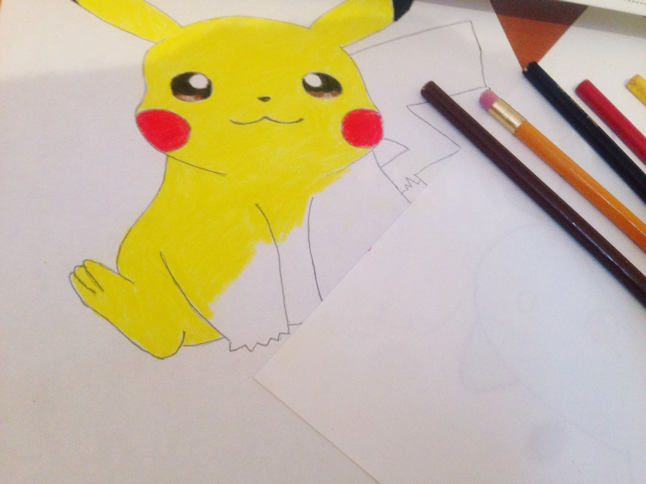 Drawing - Art Product Yellow Paper Music Sweetchildofmine Pikachu