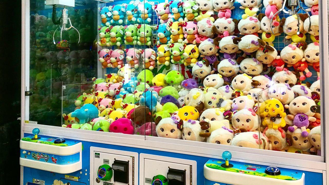 Claw Machine Teddy Picker Arcade Game Claw Crane Toys Multi Colored Teddy Bear