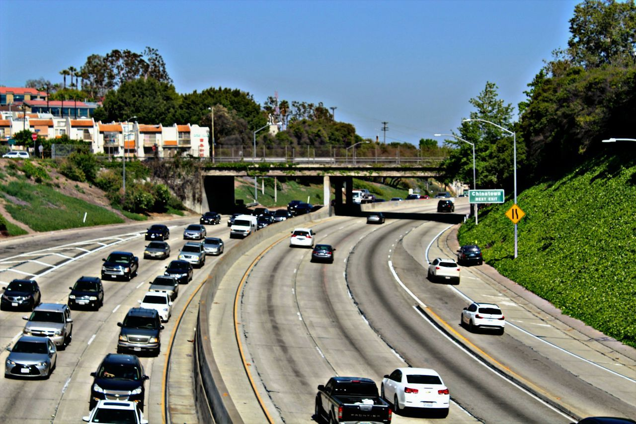 Freeway Freewayphotography Highways&Freeways Highway Highway110 Traffic Vehicles Cars Speedy Action Sky Adapted To The City
