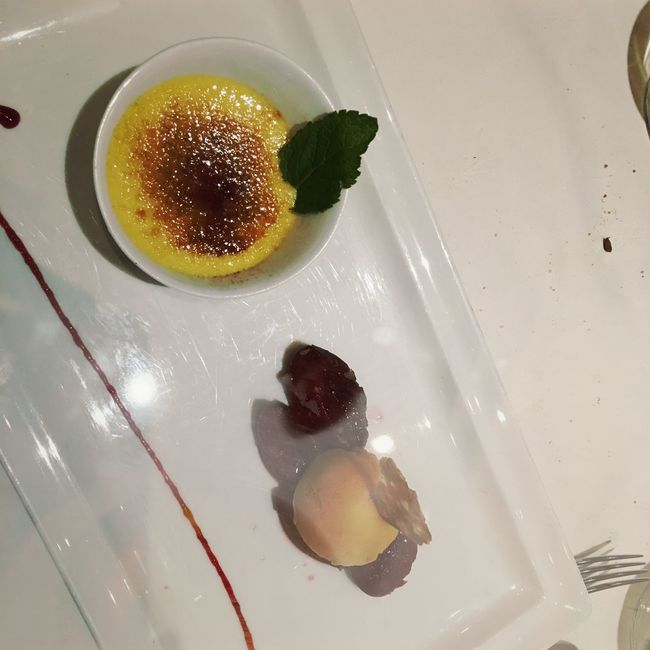 Dessert Food Food And Drink Freshness Frozen Food Fruit Garnish High Angle View Indoors  Indulgence Orange Plate Ready-to-eat Serving Size Sweet Food Temptation Unhealthy Eating