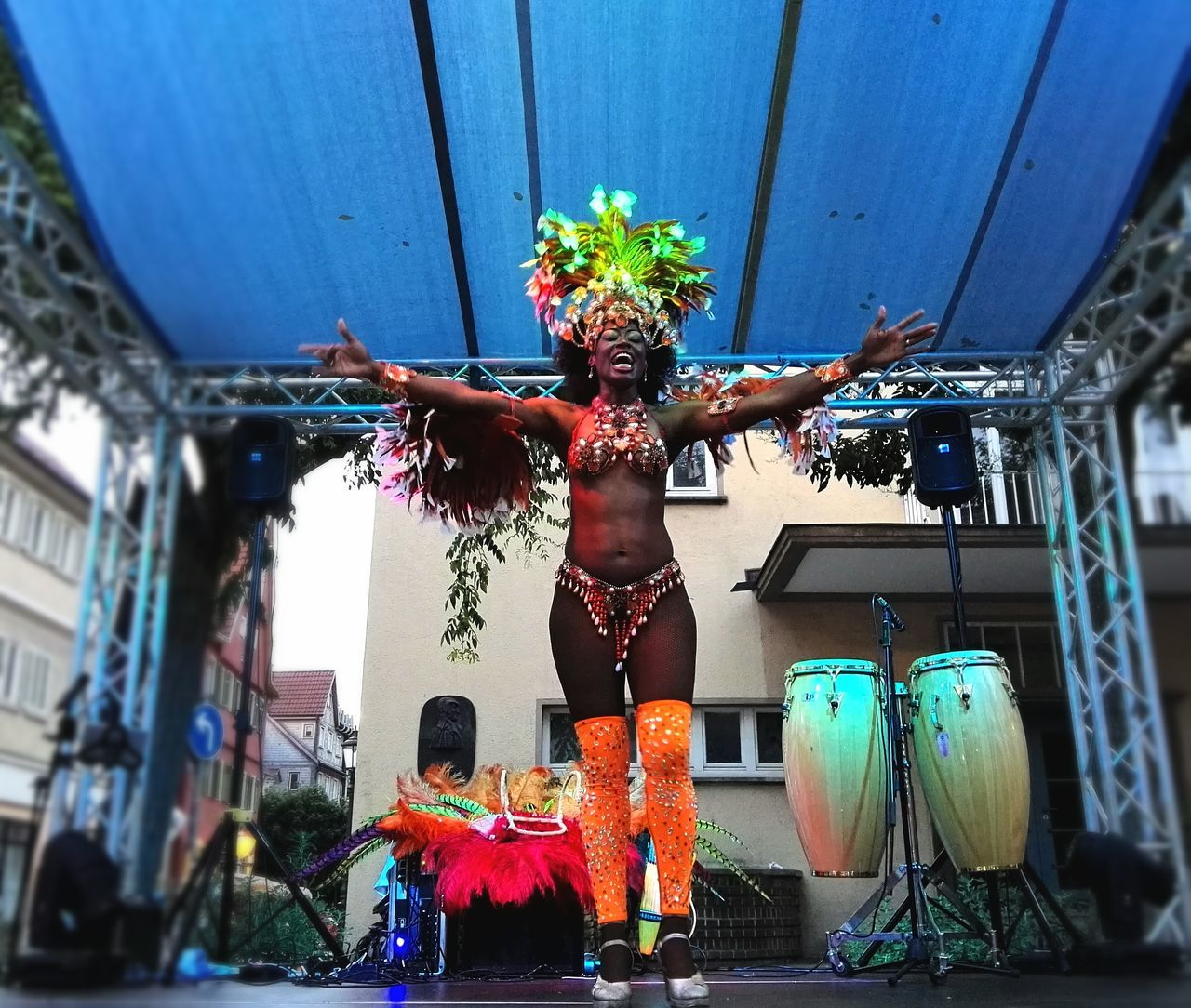 celebration, statue, performance, arts culture and entertainment, carnival, real people, day, outdoors