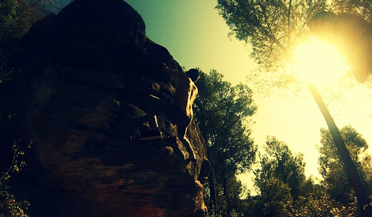 productive morning today! Climbing Bodybuilding Rock