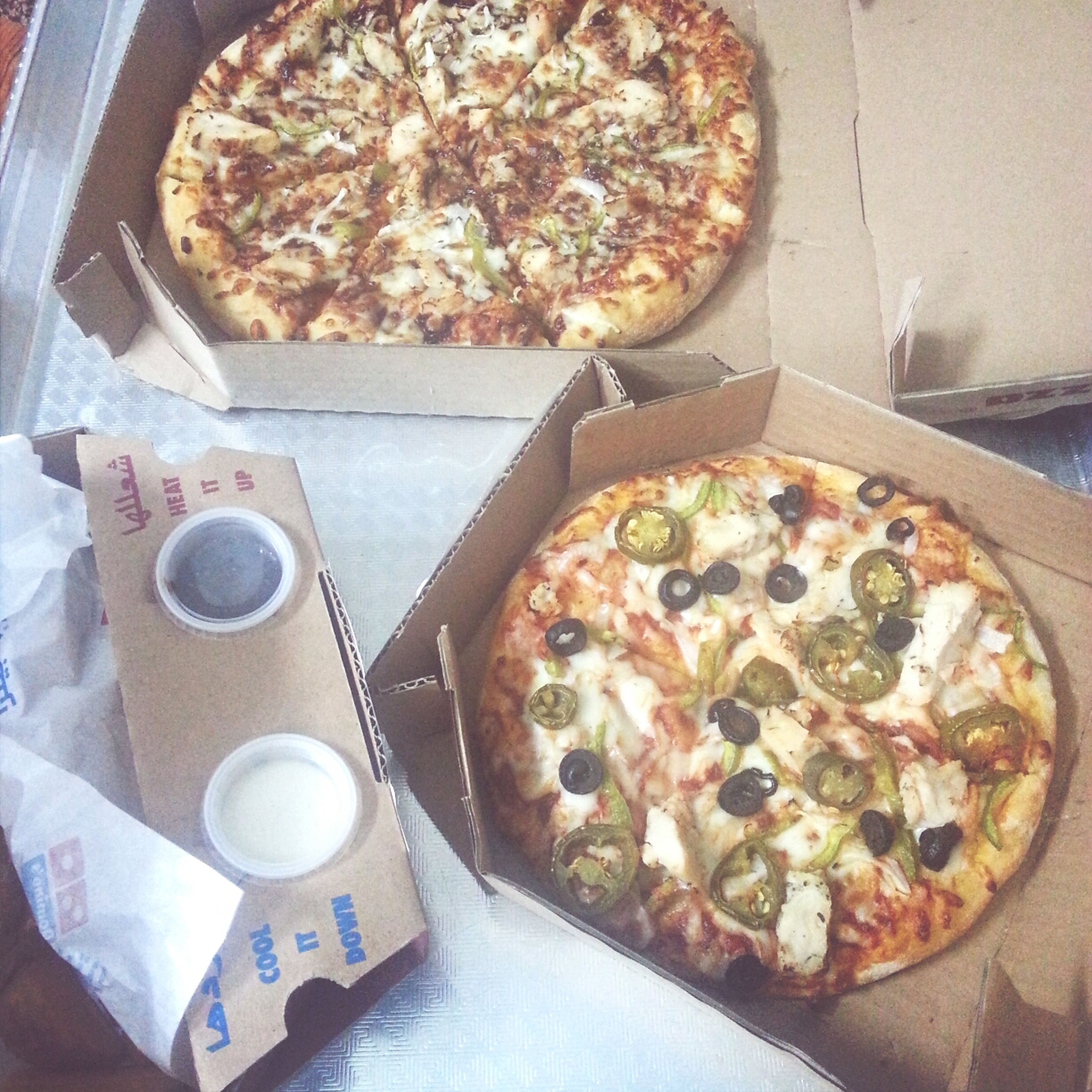 food and drink, food, indoors, freshness, ready-to-eat, plate, still life, table, indulgence, high angle view, meal, serving size, pizza, unhealthy eating, sweet food, temptation, close-up, directly above, breakfast