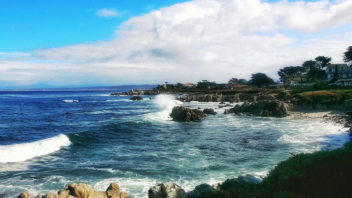 I Live Where U Vacation Monterey Ca Stormy Weather Bigwaves Ocean Lovers Point Monterey Bay