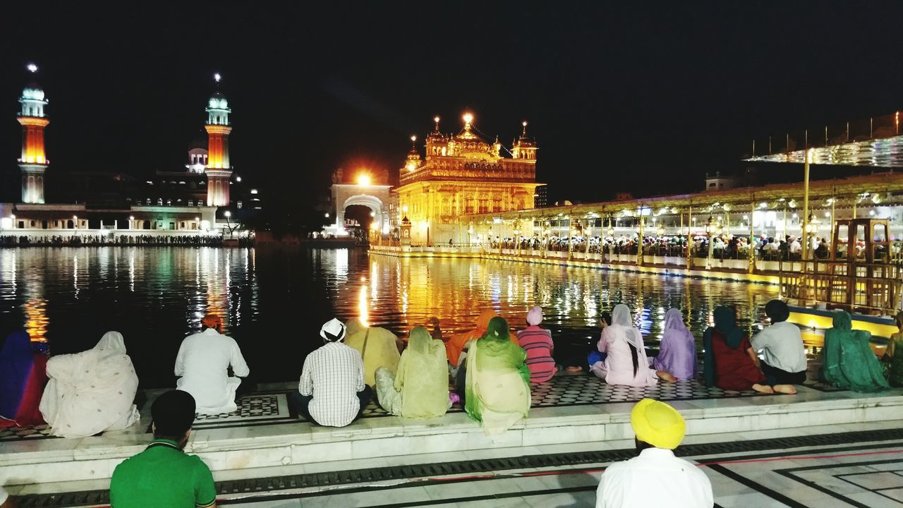 Sikh Devotion, Amritsar India. Golden Temple RePicture Travel Gurdwara Sikhs Sikhism Devotion India Punjab Amritsar Sikh Cities At Night Cities Worldwide