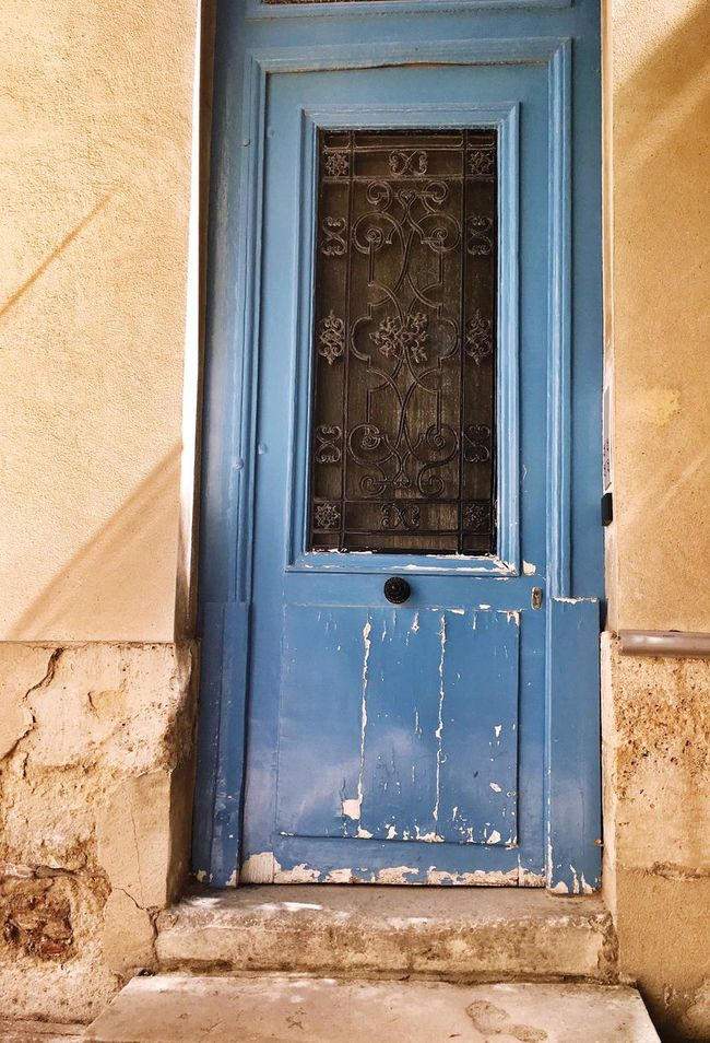 Architecture Built Structure Blue Wall Window Door Close-up Building Exterior Day Outdoors History No People Walking Around Heritage Building Old House Vintage Style Vintage Architecture_collection Architectural Detail