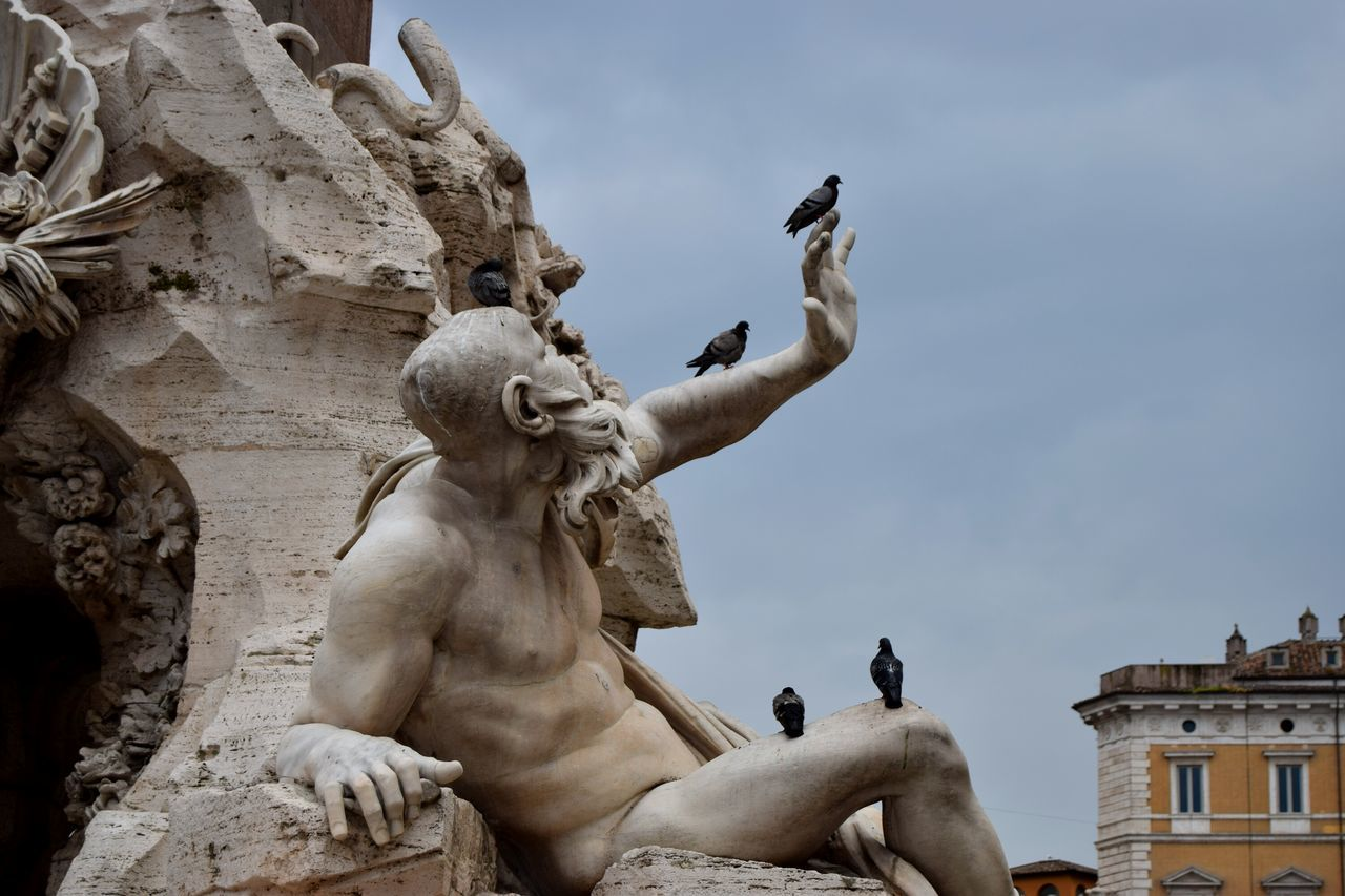 Italy🇮🇹 Roma Rome Fountain_collection Streetphotography Exploring Photography Sculpture Famous Place Photooftheday Photographer Picoftheday Center Human Representation Sculpture Mastery Newtalent The Week Of Eyeem Marmol Creativity Walk Statue Outdoors Art And Craft Monument Piazza Navona