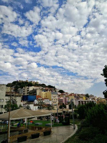 Lisboa Clouds And Sky Castle