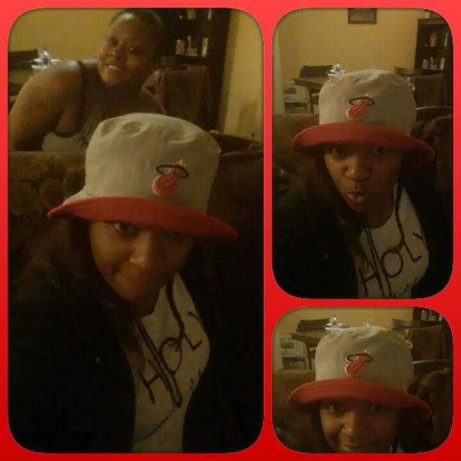 Chilling with da homie Hat Love Miami Team Heat