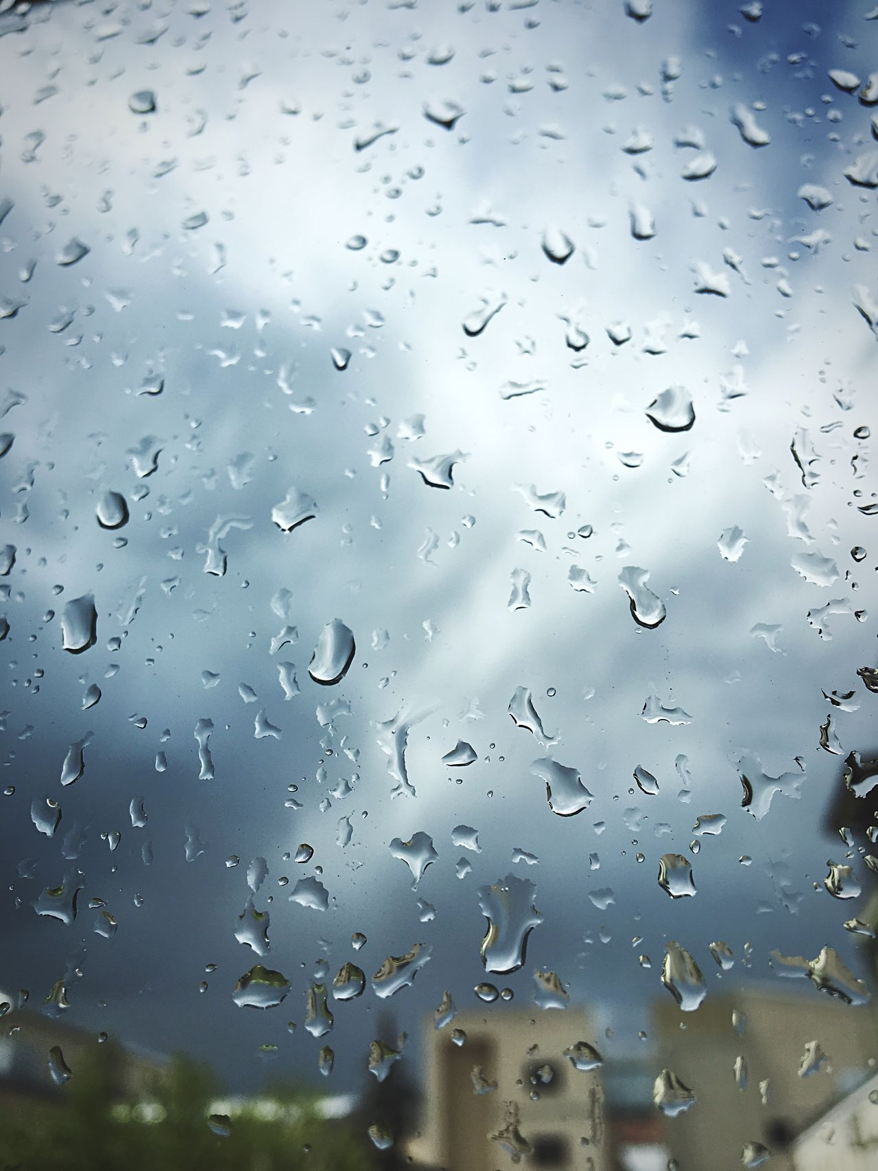 Raindrops Drop Window Water Wet No People Close-up Focus On Foreground Day RainDrop Indoors  Full Frame Nature Backgrounds Sky
