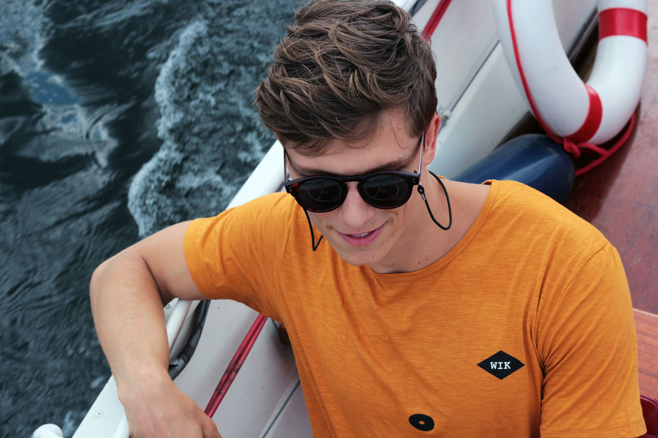 Boat Casual Clothing Clothing High Angle View Lifestyles Sine T-shirt WIK