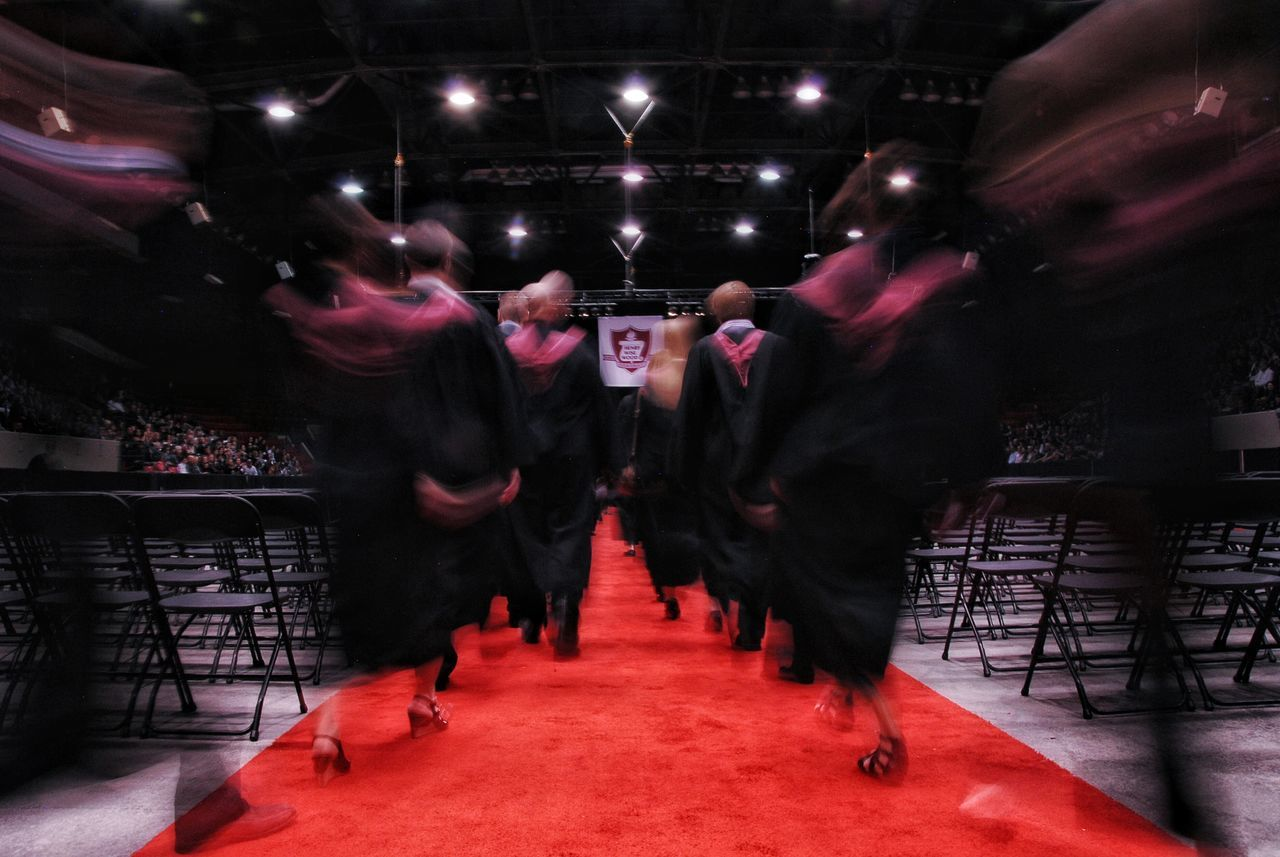 Beautiful stock photos of graduation, Achievement, Blurred Motion, Chair, Education