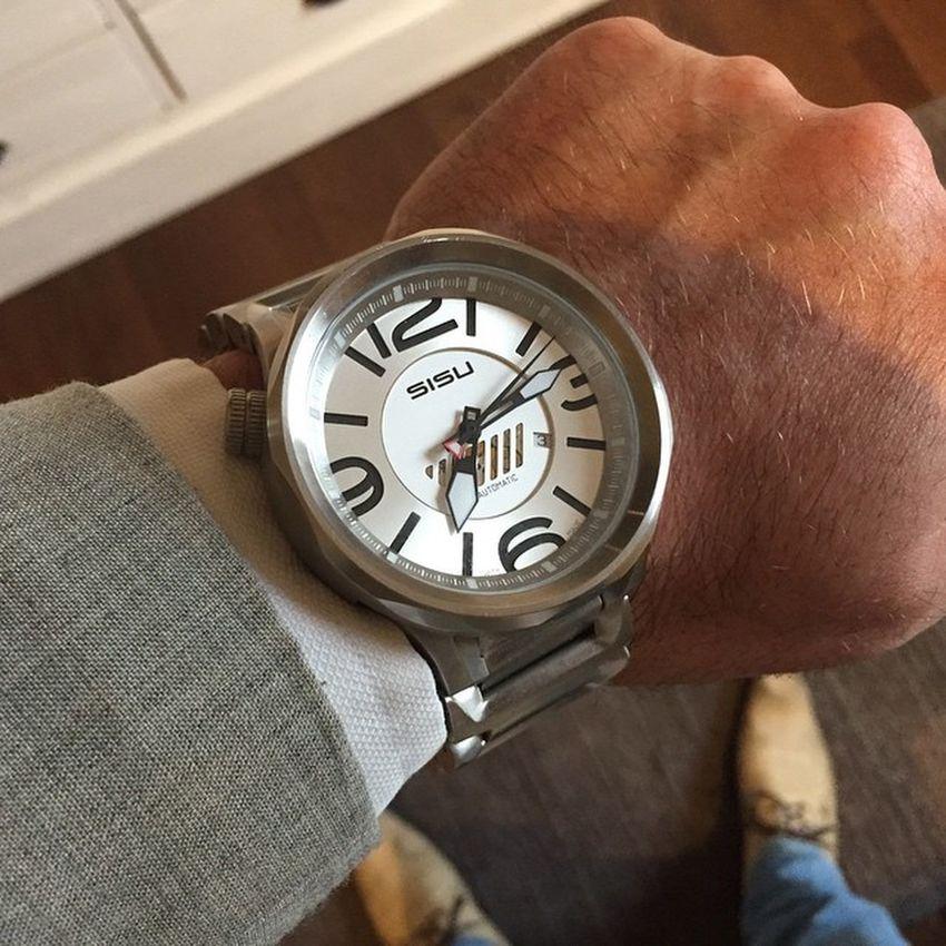 Todays partywatch :-) www.xlklokker.no Watches Sisu Watch Klokke Klokker Klockor Wristporn Xlklokker Klokke Ur Ure Bigwatch