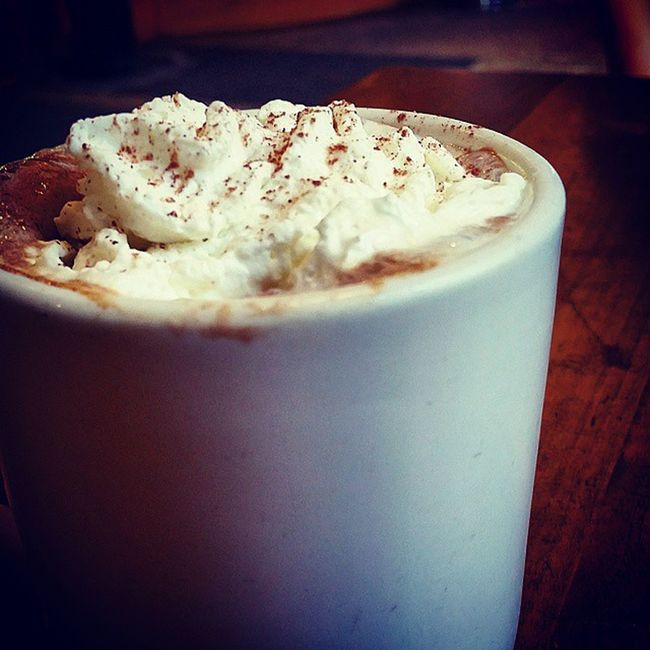 Mocha looking at its best in Winter :3 Yum Coffee Cafe Darkchocolate Whippedcream Homemade Coffeehouse Lovelife Bliss Happiness Sweetjoy Smiles Froth Winterbliss Warmth
