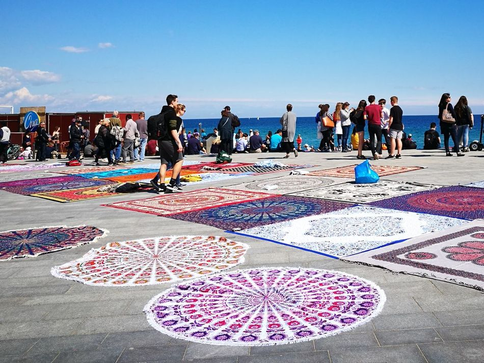 Outdoors Day Sky Colourful Socolorful Streetvendors Barceloneta Beach Vacation Vacation Destination