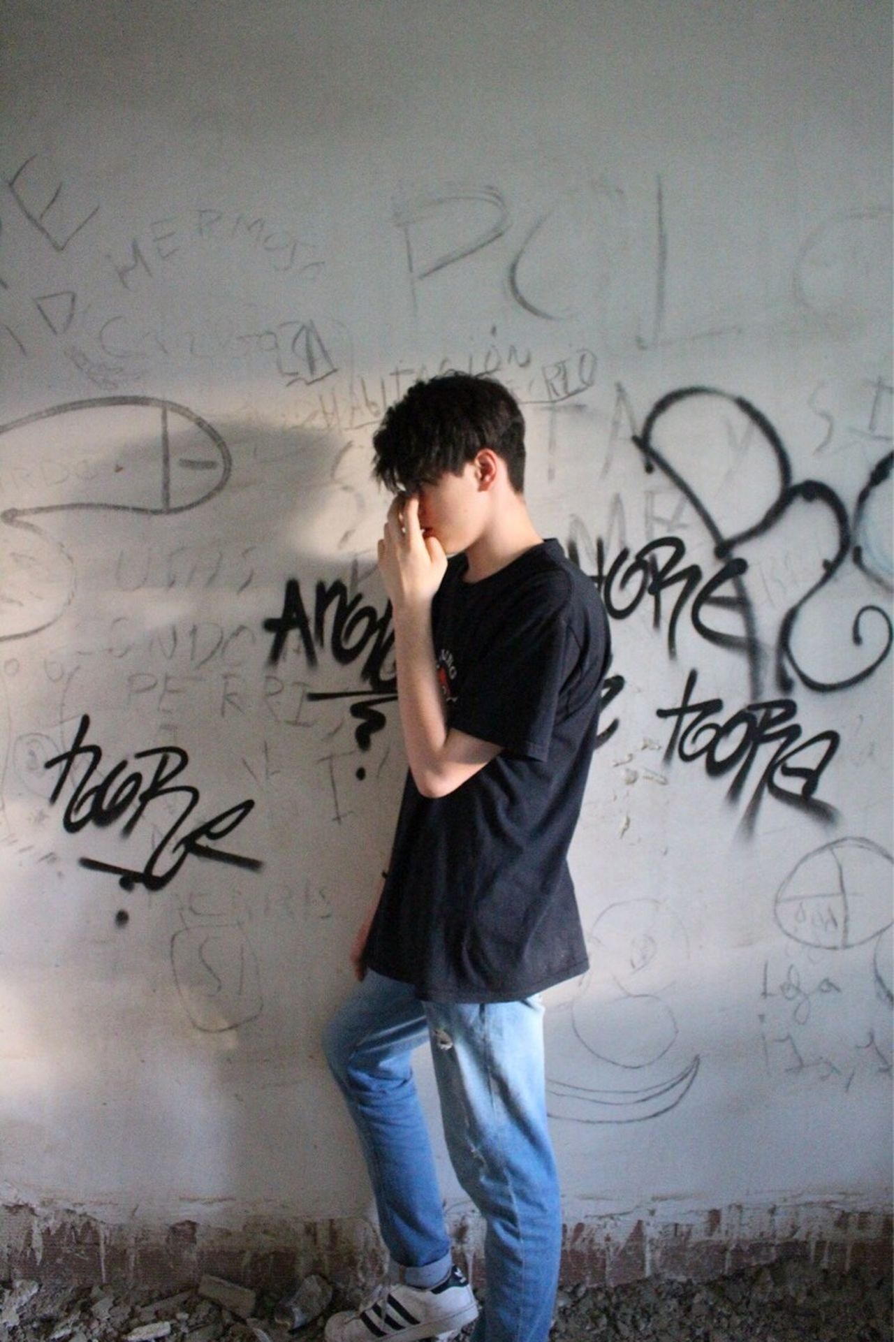 WARRIOR Warrior One Person Casual Clothing Teenager Outfit Real People Education One Teenage Boy Only Formula Lifestyles Young Adult Tensed Indoors  Blackboard  Day People