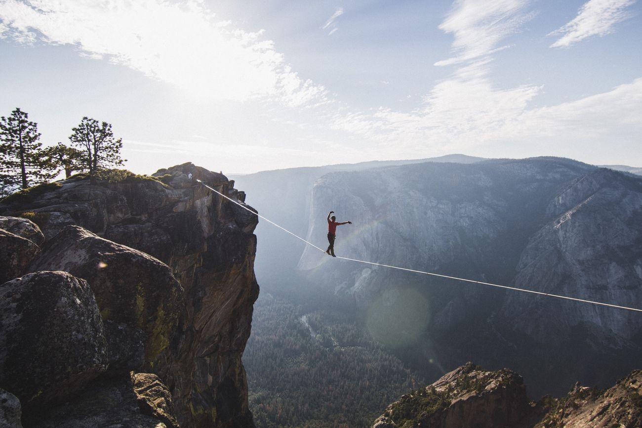 Highlining. Yosemite National Park Yosemite Valley Highlining Travel Adventure California Nature Outdoors Athletic