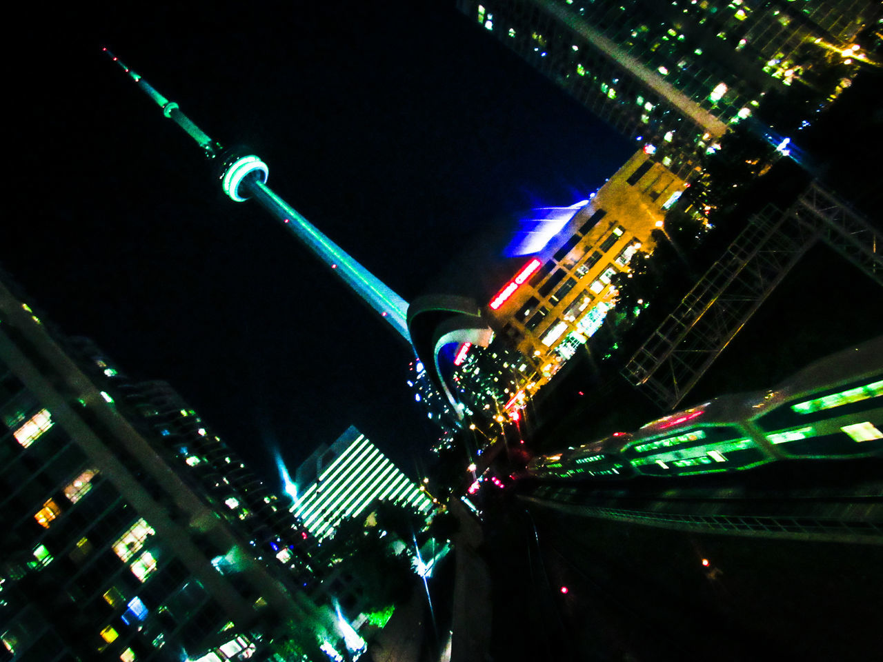 All night transport in Canada's liveliest city Architecture Built Structure Capital Cities  City City Life City Street Cityscape Cntower Downtowntoronto Göbüş Illuminated Lighting Equipment Night No People Travel Destinations